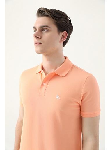 D'S Damat Regular Fit Yavruağzı Pike Dokulu T-Shirt Pembe